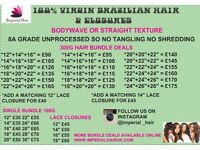 Virgin Brazilian / Peruvian Hair And Closures