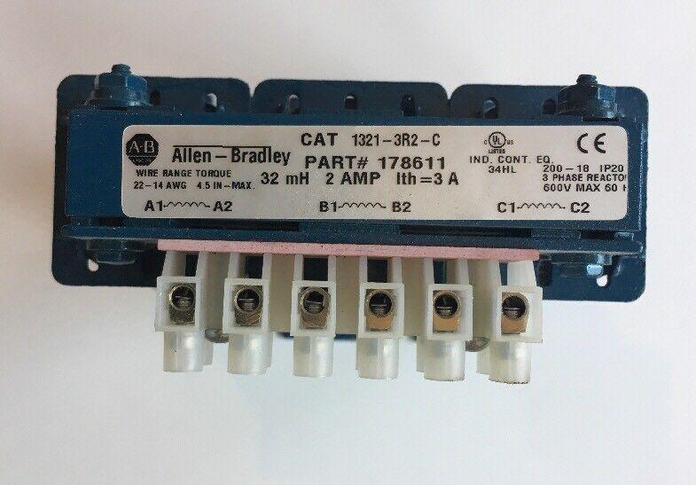 Allen Bradley 1321-3R2-C Line Reactor 3 Phase 2Amp 600V