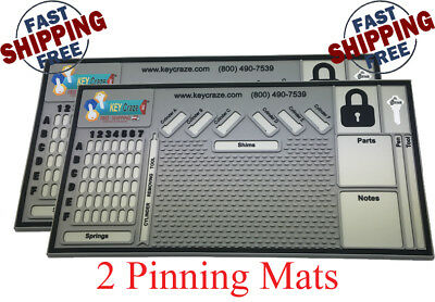 2x Pinning Mat - Locksmith - Lock Sport - Lock Picking 0.31 X 11 X 21