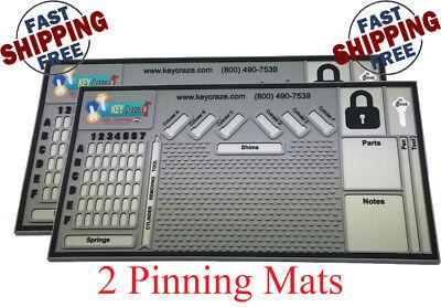 2x Pinning Mat - Locksmith - Lock Sport - Lock Picking 0.31 X 11 X 21