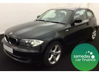£207.27 PER MONTH BLACK 2011 BMW 118 2.0 SPORT 3 DOOR DIESEL MANUAL
