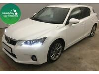£239.14 PER MONTH WHITE 2013 LEXUS CT 200 1.8 ADVANCE 5 DOOR HYBRID AUTO