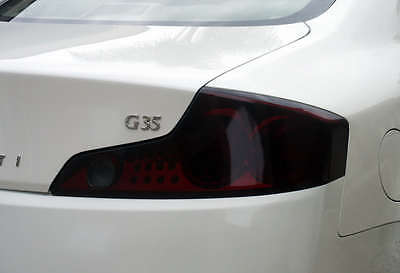 Tail Light Overlays Full Smoked Tinted Vinyl Film For: 03-06 INFINITI G35 Coupe