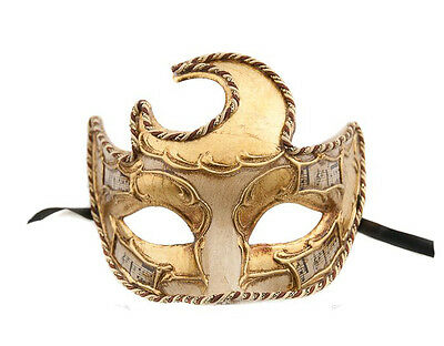 Mask from Venice Colombine Wolf Moon Symphony -mask Venetian Authentic 320