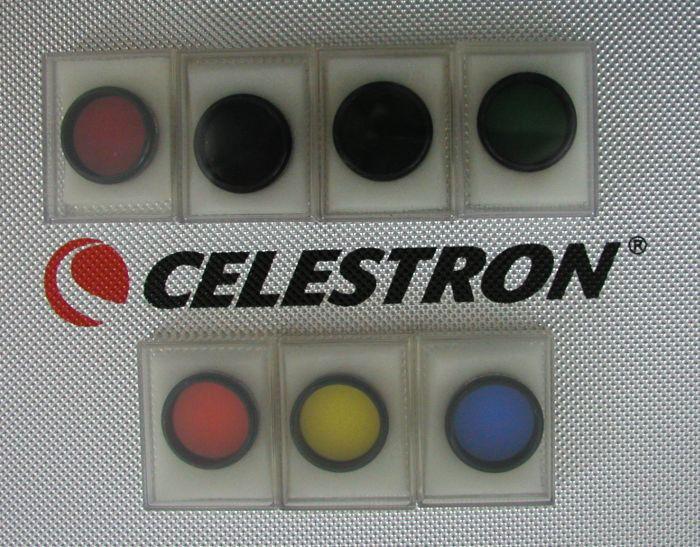 7 Celestron telescope color filters (Filter Astronomy)