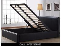 Brand New Single Double King Size Storage Leather Bed