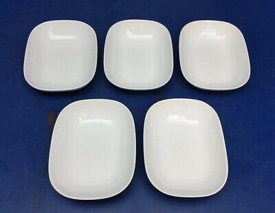 (5 Dishes) ALESSI Delta Airlines White Rectangular Bowl Dish Tray 044207793 White Rectangular Tray