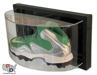 Framed Curved Shoe Wall Mount Acrylic Display Case Large Size 17 Uv Football