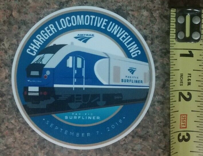 Amtrak Charger Locomotive Railroad Luggage Decal Train Sticker High Quality NEW!