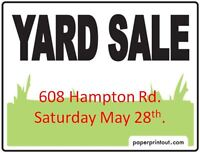 *****3 FAMILY YARD SALE******TODAY*****