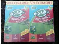 2 boxes Gro-Sure Fast Acting Lawn Seed