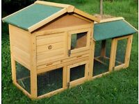Rabbit Hutch with Run For Sale NEW 5ft