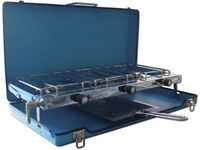Royal Double Burner & Grill with Folding Case