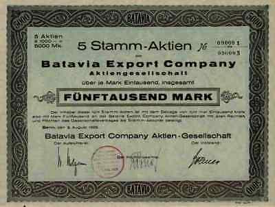 Batavia Export Company AG Berlin Filmexport Niederländisch Indien Deutsche Union