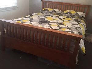 Wooden Queen bed with mattress Plumpton Blacktown Area Preview