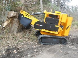 Stump Grinder Hire with Operator
