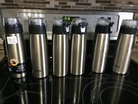 SIX Stainless Steel Water Bottles -- Thermos
