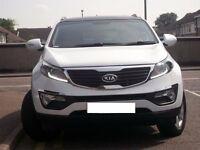 KIA Sportage 1.7 diesel 12 month MOT , FSH , under warranty , low miles, 4 new tyres