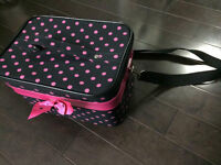 Cute zippered makeup tote with mirror - never used