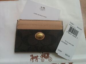 NEW - Authentic Coach card case