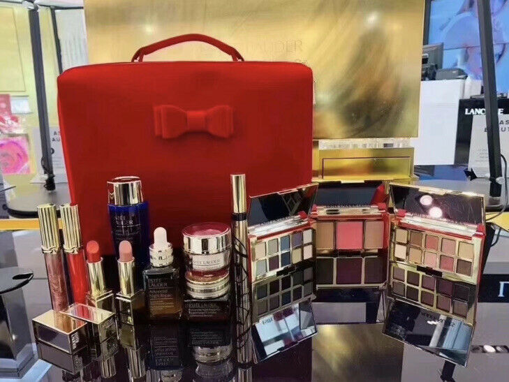 2020 Estee Lauder Blockbuster Holiday Makeup Gift Full Set 12PC + Train Case New