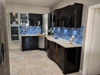 Ex Display Mulberry Kitchen For Sale inc, all kitchen cabinetry, doors, pull outs & quartz worktops