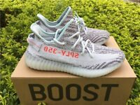 Adidas Yeezy V2 Blue Tint / Grey Three / Hi-Res Red UK 7.5 Manchester