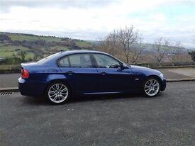 2008 BMW 320D M Sport 177 Lemans Blue Alcantara Interior FSH 12Months MOT