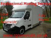 Removals RG removals and man and van service large Luton van