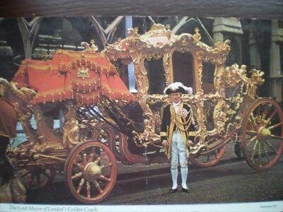 POSTCARD SOCIAL HISTORY LONDON - THE LORD MAYOR OF LONDON'S GOLDEN COACH