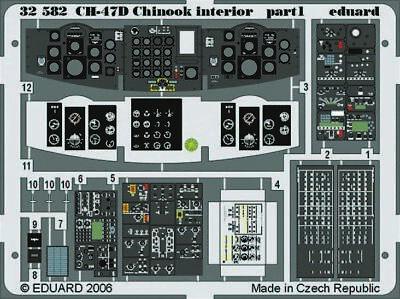 Eduard Accessories 32582 - 1:32 Ch-47D Chinook Interior Für Trumpeter-Bausatz -