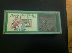 MOVING MUSICAL MATCHBOX TRAIN DECK THE HALLS