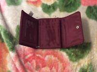 Womens Dark Red Leather Wallet