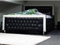 Double Diamanté Bed Frame (Good Condition)