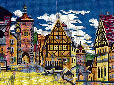 "Mini Stecksystem Rothenburg ob der Tauber ""Malerwinkel"" ca.5.100 Teile Nr. 42141"