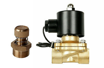 Air Ride Suspension Valve 38npt Brass Electric Solenoid With Slow Down Dump