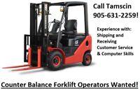 Forklift Operator Opportunity in Burlington!