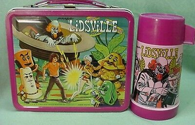 Vintage 1971 Sid & Marty Krofft metal Lidsville lunch box and thermos