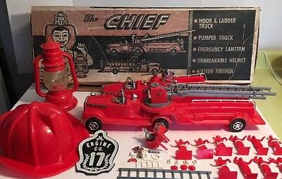 Rare Vintage Marx The Chief Fire Department Themed Play Set In Original Box Toy