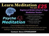 Meditation Teacher registered with (The British School of Yoga)
