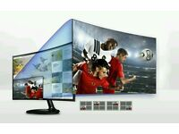 "Samsung 32"" curved tv and monitor new full hd 1080p"