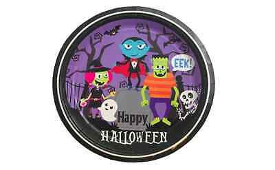 Halloween Paper Dessert Plates w/ Spooky Grave Witch Ghost Bats 12 Count](Halloween Paper Plates)