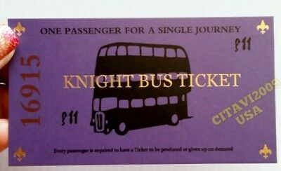- NEW! HARRY POTTER KNIGHT BUS TICKET SOUVENIR POSTER. USA SELLER.