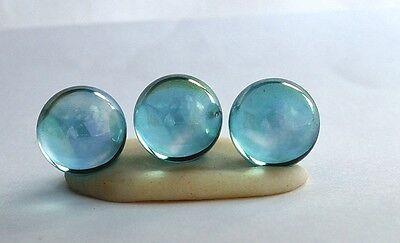 Aqua Aura 14mm Quartz Spheres 1 lot of 3