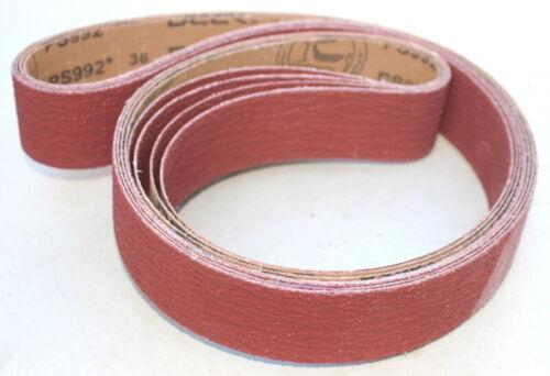 2 x 72 Inch  Stout Ceramic Y-wt Sanding Belts 36 Grit   8 Belts per Pack