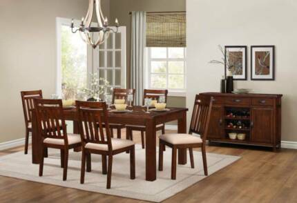 SALE 7 Pce Santos Dining Table Chairs Was