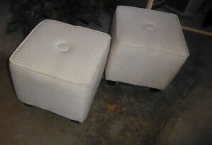 2 fabric cube ottomans from HomeSense Kitchener / Waterloo Kitchener Area image 1