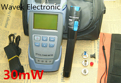 Fiber Optical Power Meter And 20-30km 30mw Visual Fault Locator Cable Tester