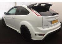 2010 WHITE FORD FOCUS 2.5 RS 305 BH[P PETROL 3DR HATCH CAR FINANCE FR £67 PW