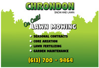 Chrondon Snow & Lawn (Core Aeration Available ***)